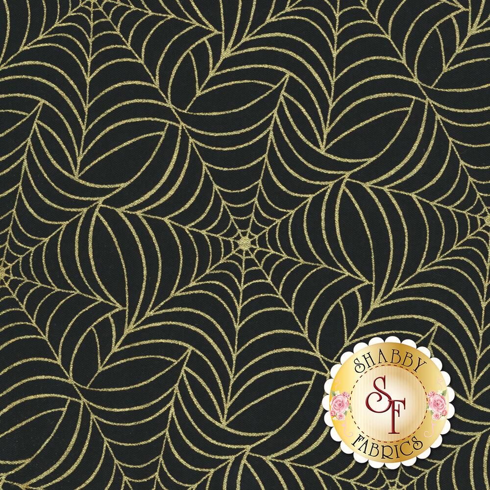 Midnight Spell 6956M-9 Spiderweb Black by Henry Glass Fabrics