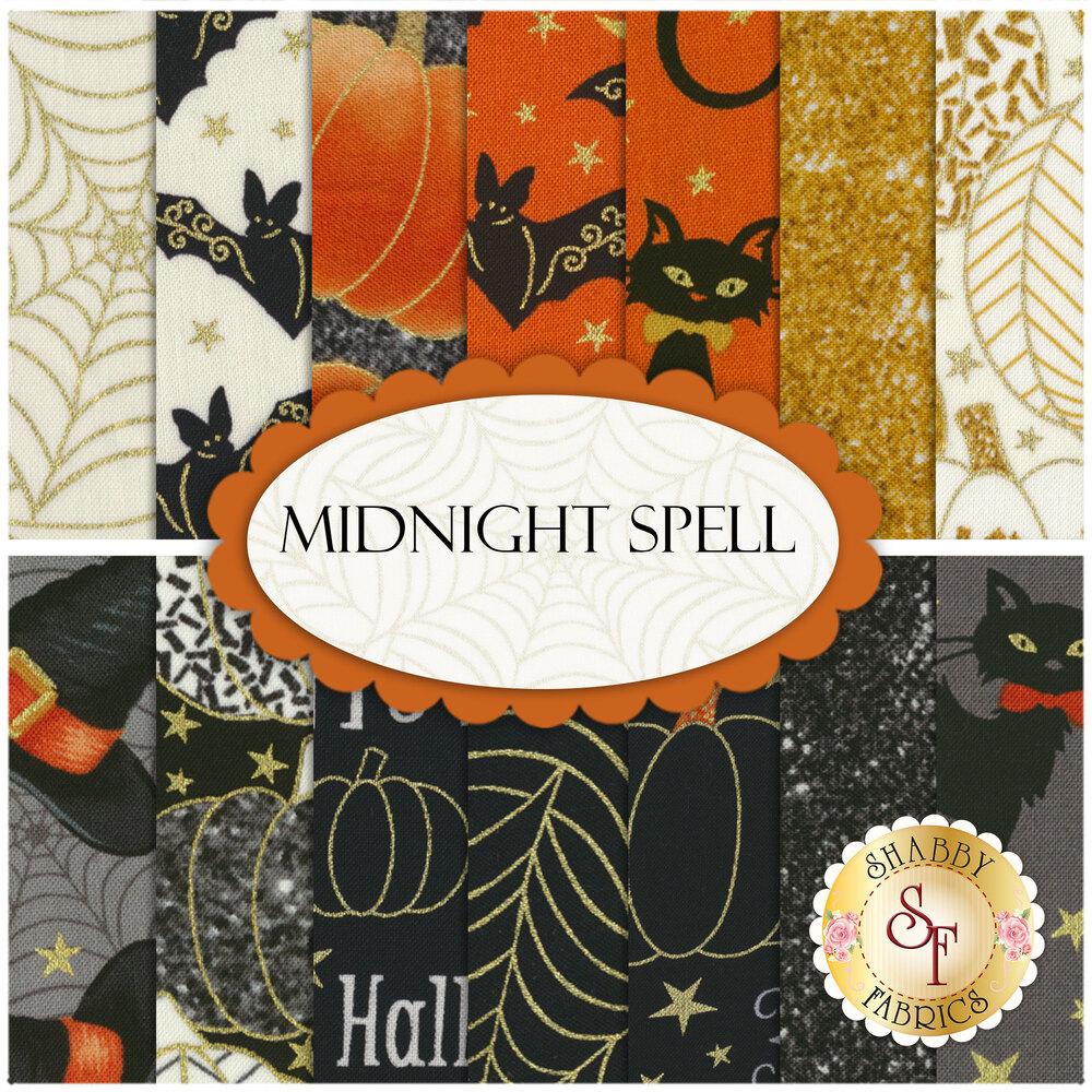 Midnight Spell  14 FQ Set by Henry Glass Fabrics