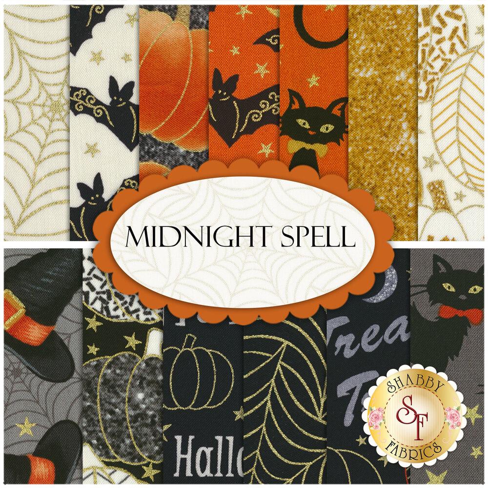 Midnight Spell  13 FQ Set by Henry Glass Fabrics