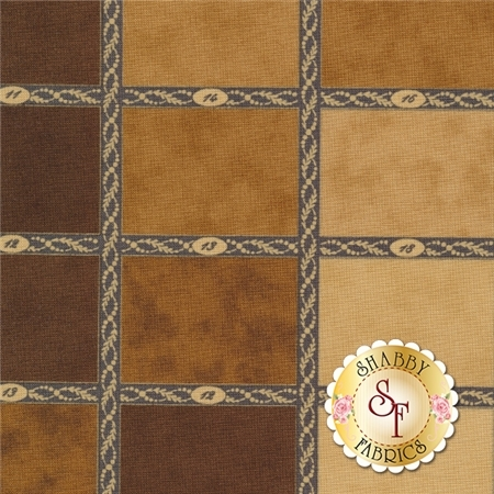 Mille Couleurs 44080-12 Walnut by 3 Sisters for Moda Fabrics