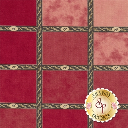 Mille Couleurs 44080-13 Madder Red by 3 Sisters for Moda Fabrics