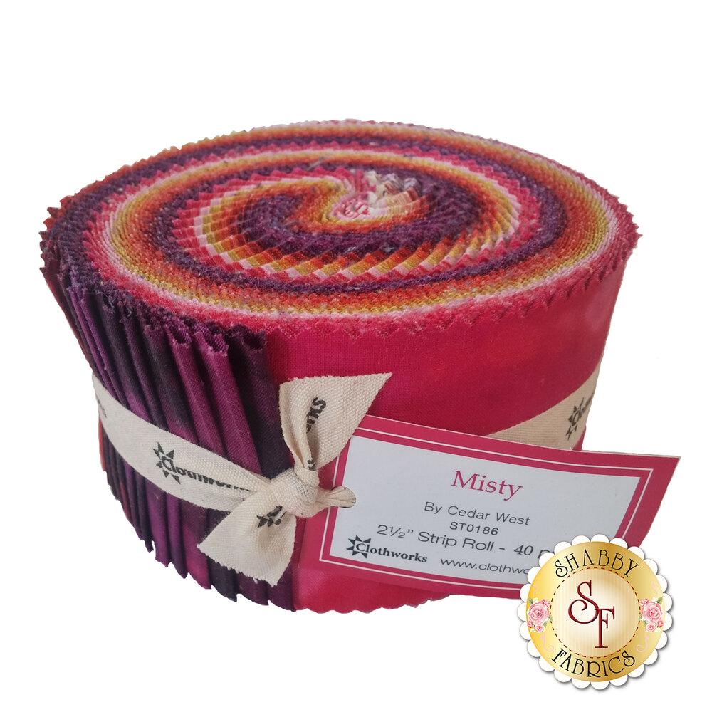 Misty Begonia Strip Roll by Clothworks Fabrics