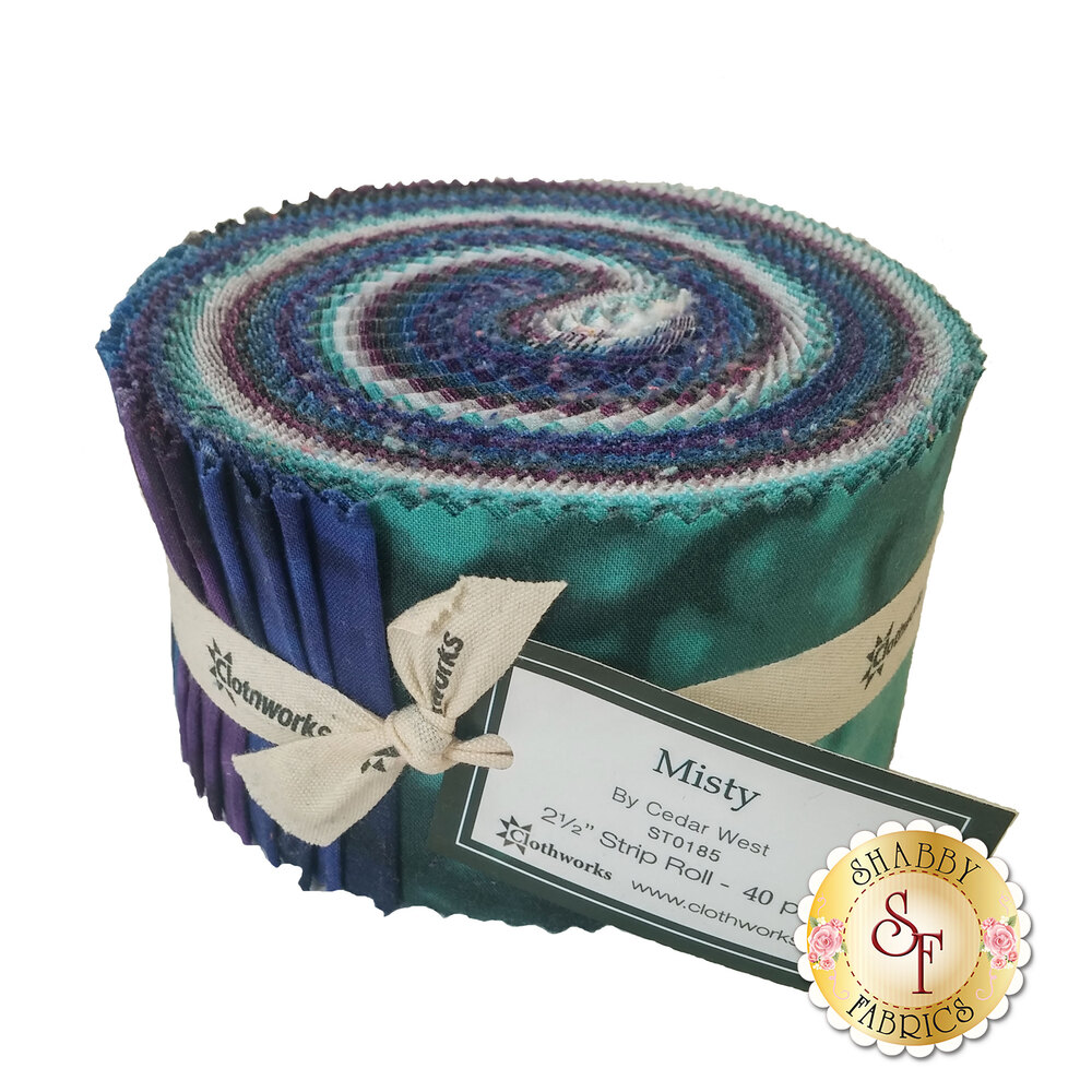 Misty Dahlia Strip Roll by Clothworks Fabrics