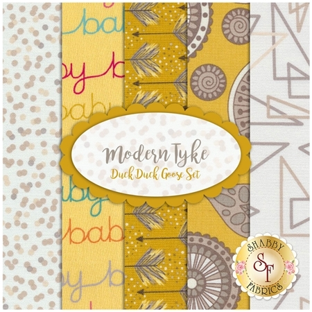 Modern Tyke 5 FQ Set - Duck Duck Goose Set by Kim and Molly Diehl for Henry Glass Fabrics