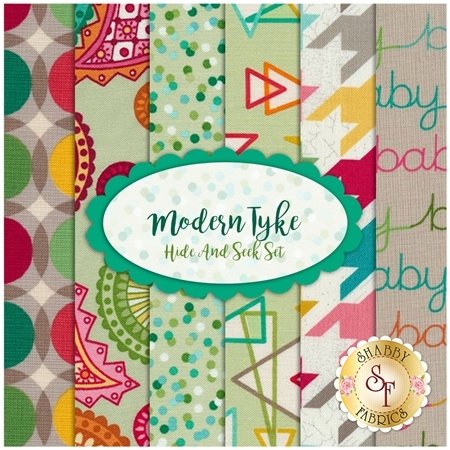 Modern Tyke 6 FQ Set - Hide & Seek Set by Kim Diehl for Henry Glass Fabrics