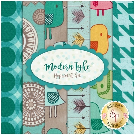 Modern Tyke 6 FQ Set - Hopscotch Set by Kim and Molly Diehl for Henry Glass Fabrics