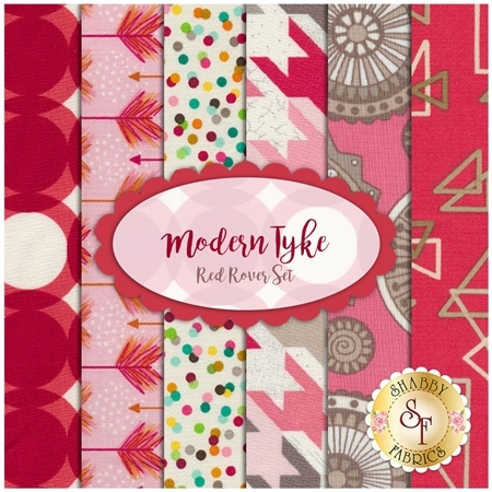 Modern Tyke 6 FQ Set - Red Rover Set by Kim and Molly Diehl for Henry Glass Fabrics