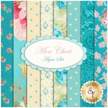 Mon Cheri  8 FQ Set - Aqua Set by Robyn Pandolph for RJR Fabrics