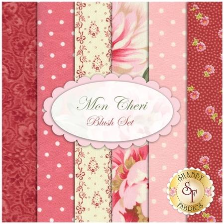 Mon Cheri  6 FQ Set - Blush Set by Robyn Pandolph for RJR Fabrics