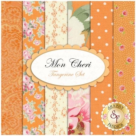 Mon Cheri  6 FQ Set - Tangerine Set by RJR Fabrics