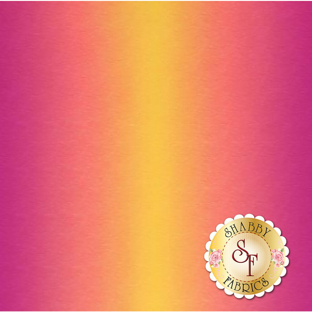 Purple to yellow ombre with tonal waves | Shabby Fabrics