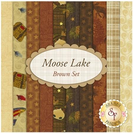 Moose Lake  10 FQ Set - Brown Set by Cheryl Haynes for Benartex Fabrics