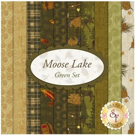 Moose Lake  10 FQ Set - Green Set by Cheryl Haynes for Benartex Fabrics