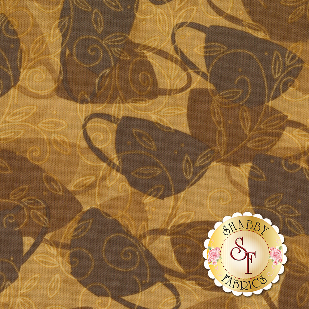 Morning Coffee 56056-222 Cafe Shadows Latte by Wilmington Prints