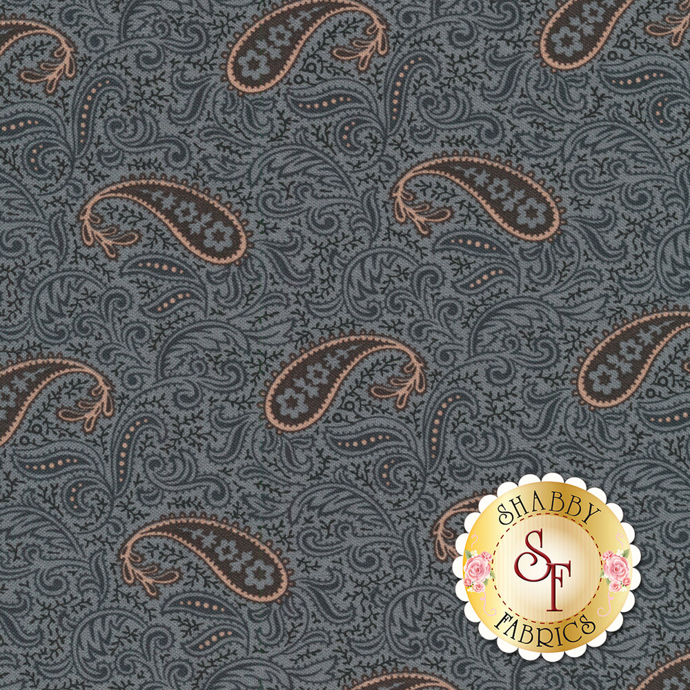 Mrs. Miller's Apprentice 8325-0150 Blue Paisley by Pam Buda for Marcus Fabrics