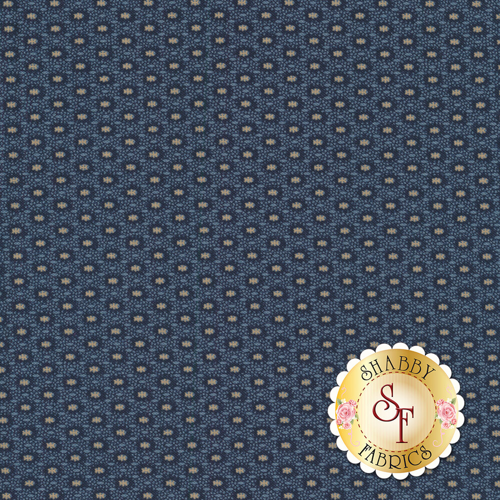 Mrs. Miller's Apprentice 8332-0150 Blue Medallion by Pam Buda for Marcus Fabrics