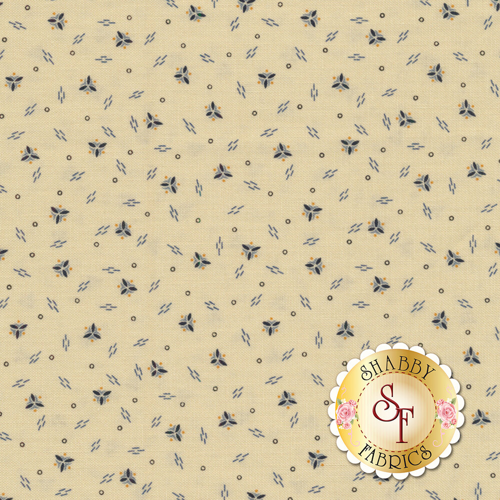 Mrs. Miller's Apprentice 8333-0192 Cream Falling Spirals by Pam Buda for Marcus Fabrics