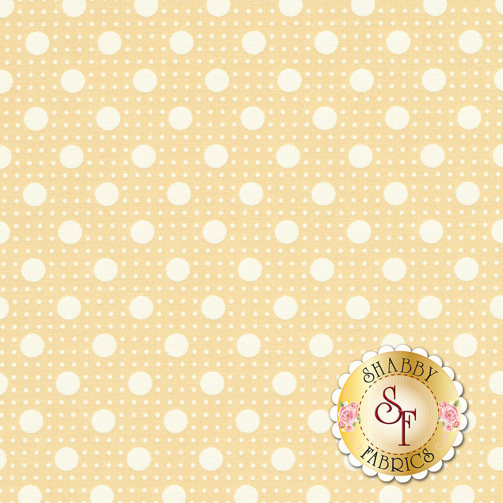 Light dots on cream | Shabby Fabrics