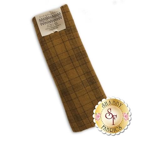 Hand Dyed Wool PRI 5019 Mustard Plaid by Primitive Gatherings for Moda Fabrics
