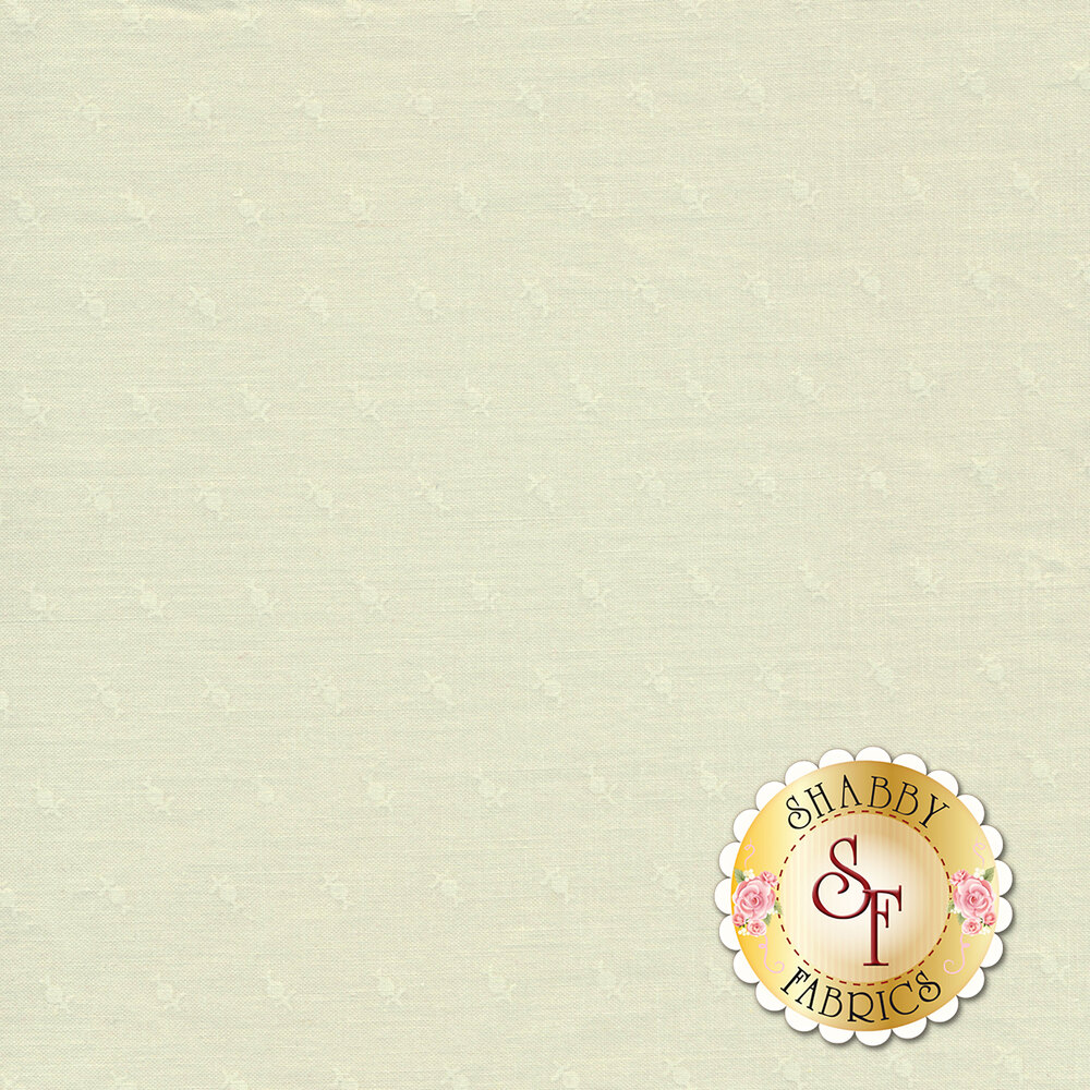 Tonal flower design all over cream | Shabby Fabrics