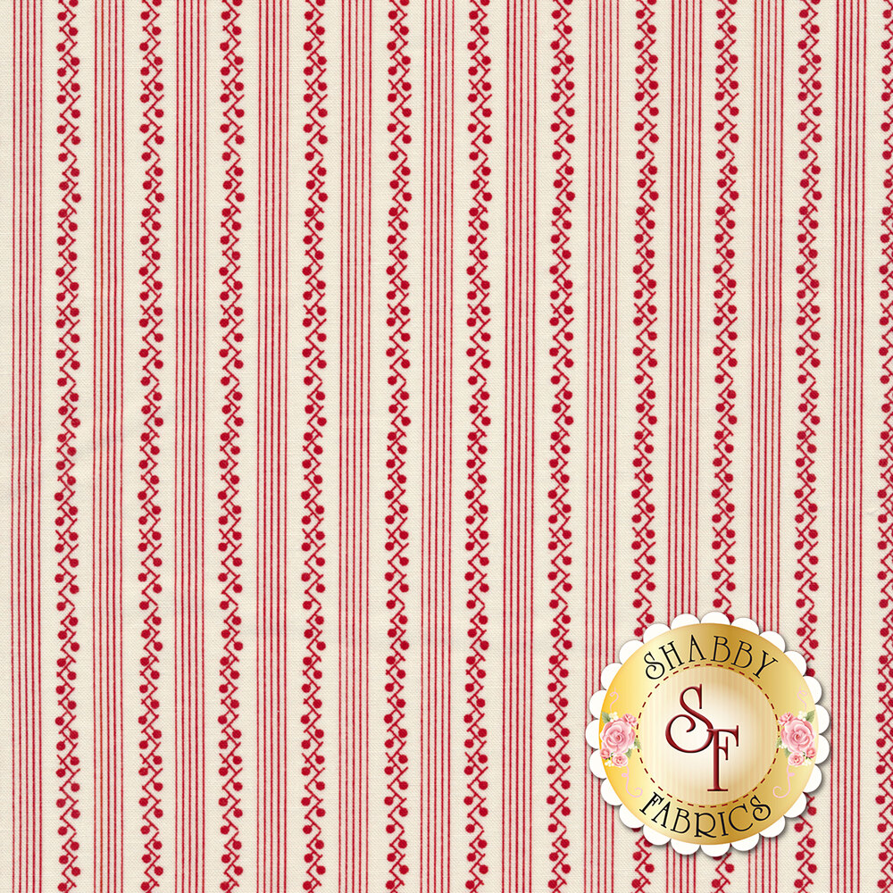 My Redwork Garden 2954-13 by Bunny Hill Designs for Moda Fabrics now available at Shabby Fabrics