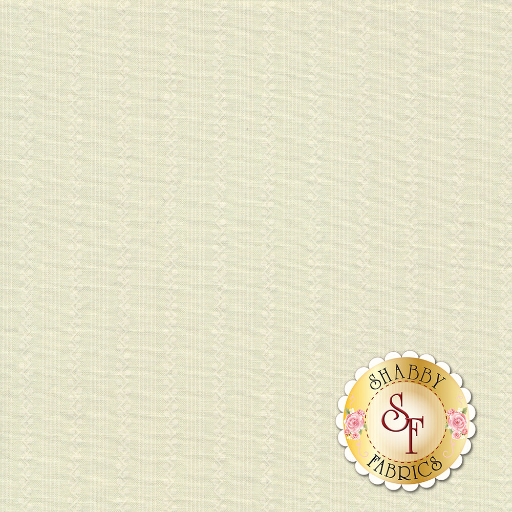 Tonal white stripe fabric | Shabby Fabrics
