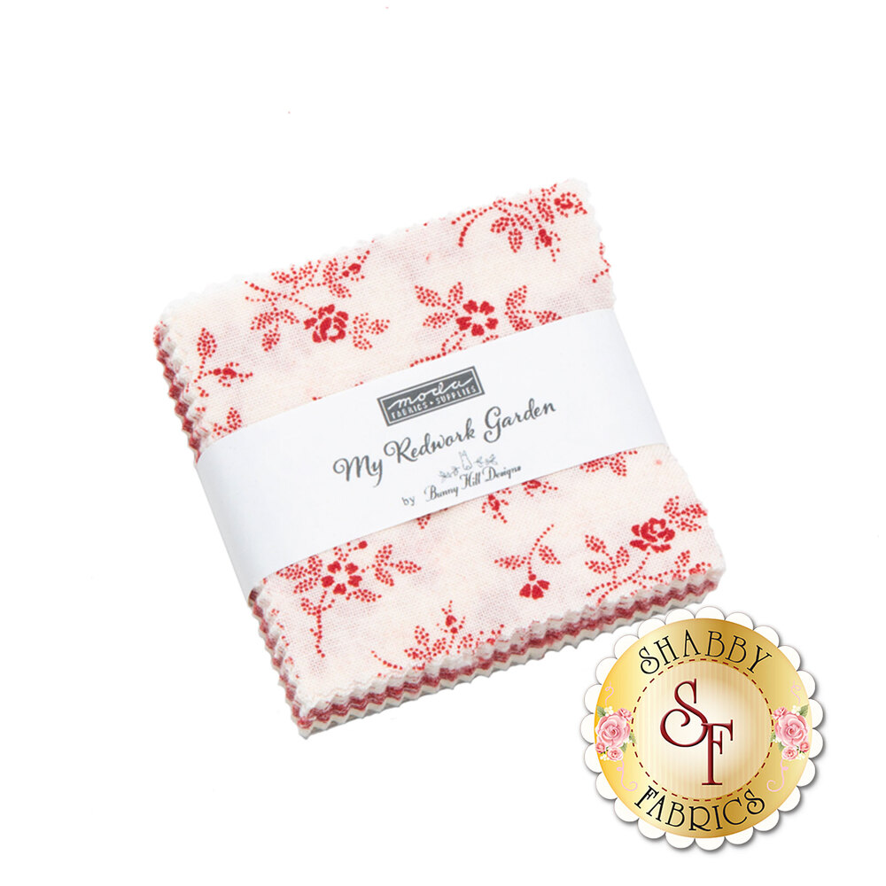 My Redwork Garden MCP by Bunny Hill Designs for Moda Fabrics now available at Shabby Fabrics