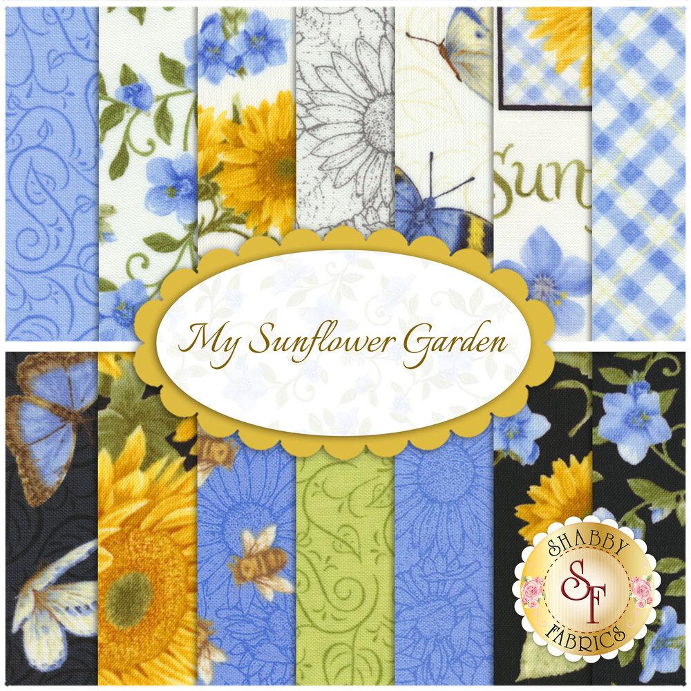 My Sunflower Garden 14 FQ Set by Jane Shasky for Henry Glass Fabrics