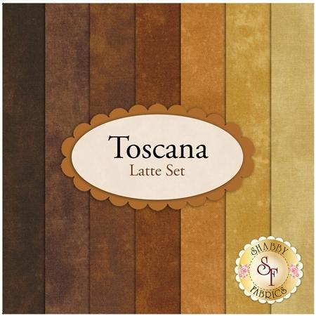 Toscana  7 FQ Set - Latte Set by Northcott Fabrics