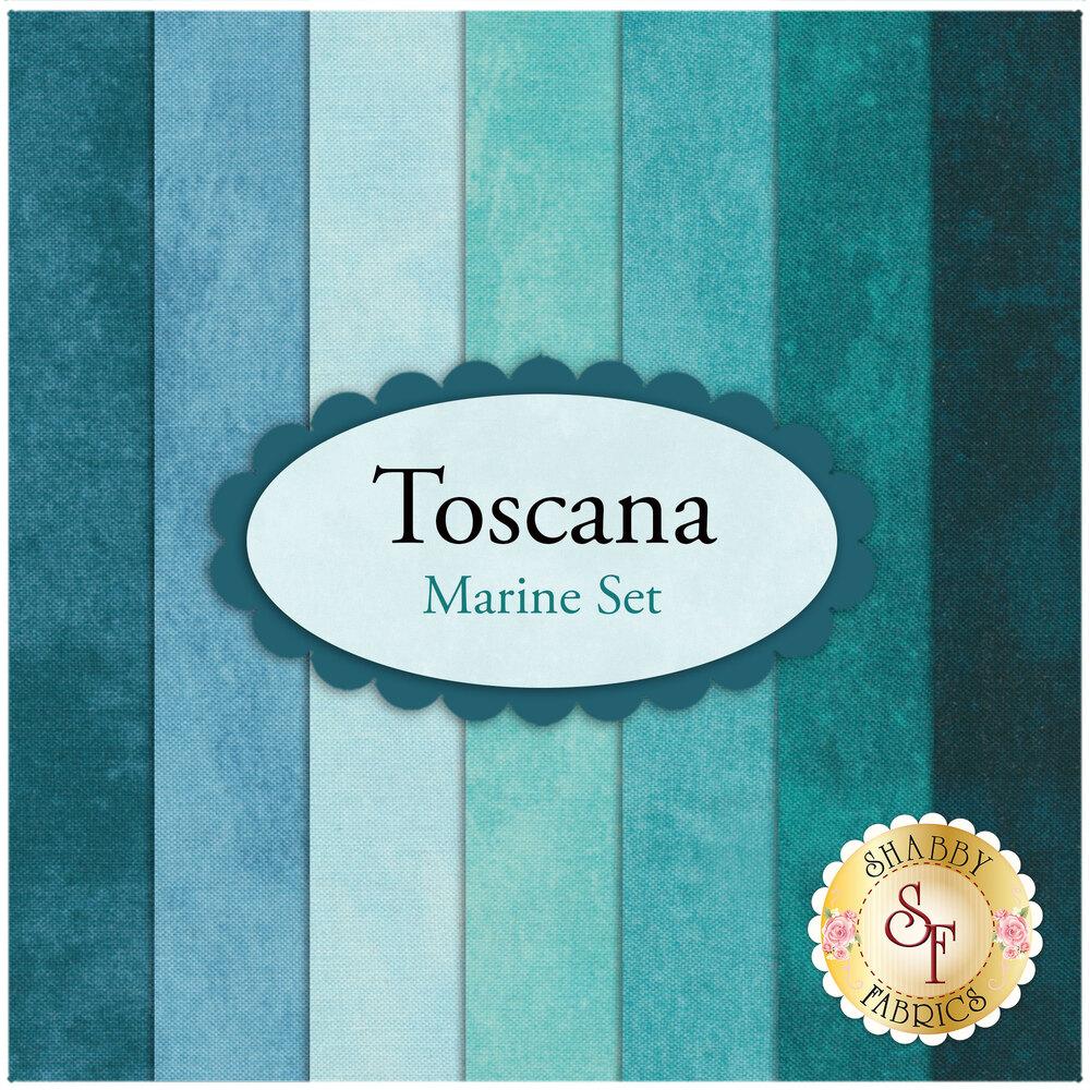 Toscana  7 FQ Set - Marine Set by Northcott Fabrics