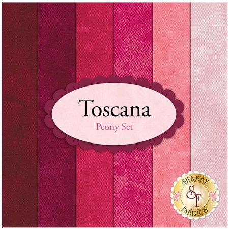 Toscana  6 FQ Set - Peony Set by Northcott Fabrics
