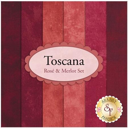 Toscana  6 FQ Set - Rosé & Merlot Set by Northcott Fabrics