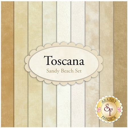 Toscana  9 FQ Set - Sandy Beach Set by Northcott Fabrics