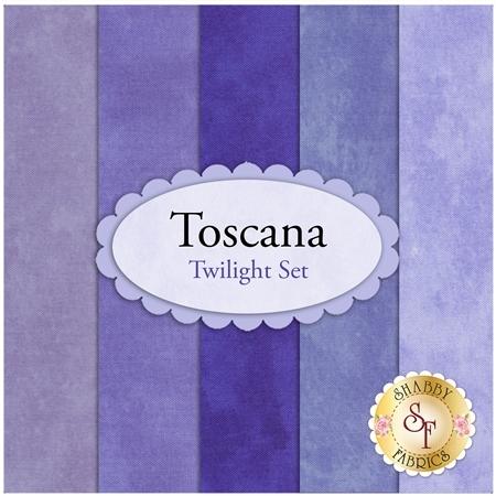Toscana  5 FQ Set - Twilight Set by Northcott Fabrics