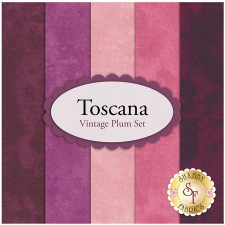Toscana  5 FQ Set - Vintage Plum Set by Northcott Fabrics