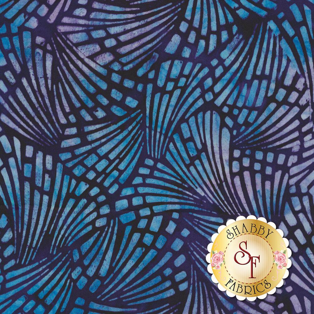Dark purple and teal batik fabric