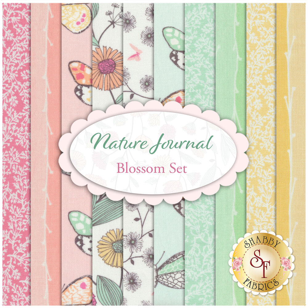 Nature Journal  10 FQ Set - Blossom Set by Michael Miller Fabrics available at Shabby Fabrics