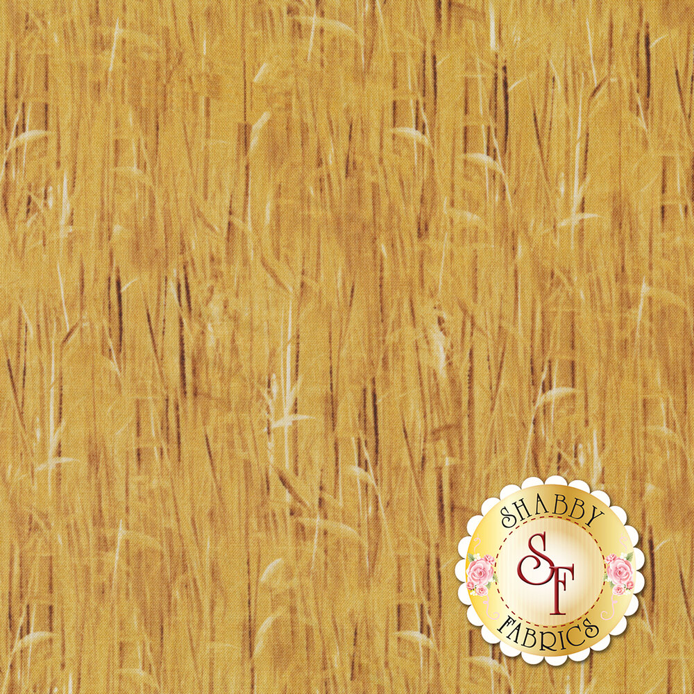 Tonal stalks of wheat all over | Shabby Fabrics