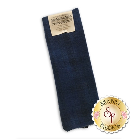 Hand Dyed Wool PRI 5047 Navy Plaid by Primitive Gatherings for Moda Fabrics