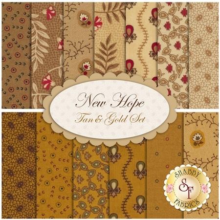 New Hope  13 FQ Set - Tan & Gold Set by Moda Fabrics