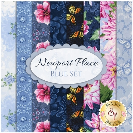 Newport Place  8 FQ Set - Blue Set by RJR Studio for RJR Fabrics