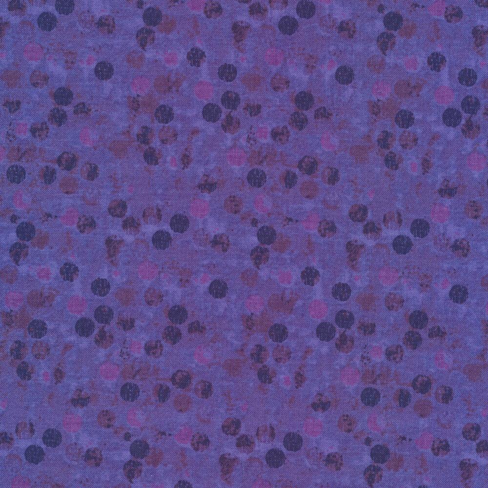 Tonal dots all over purple | Shabby Fabrics