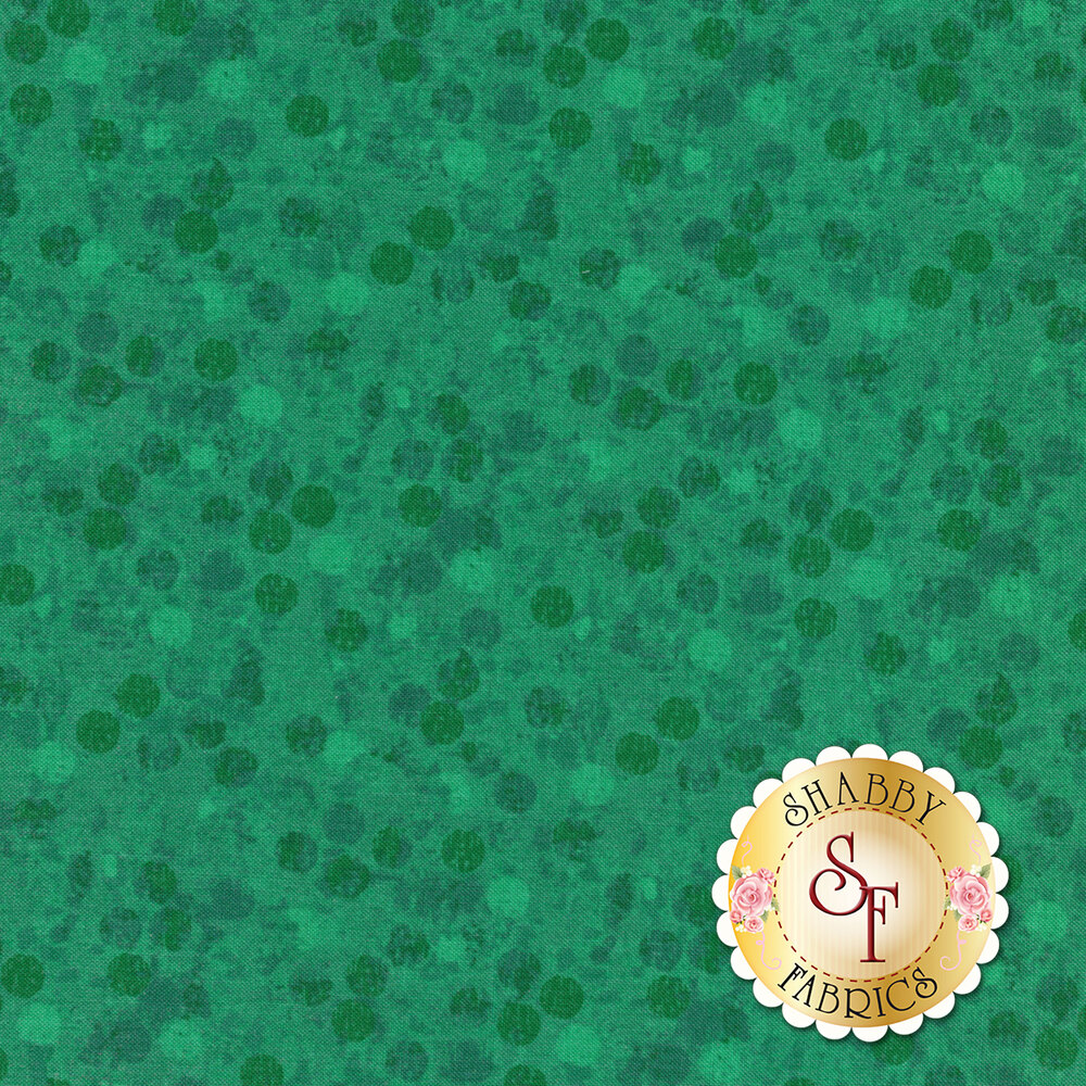 Tonal dots all over teal   Shabby Fabrics