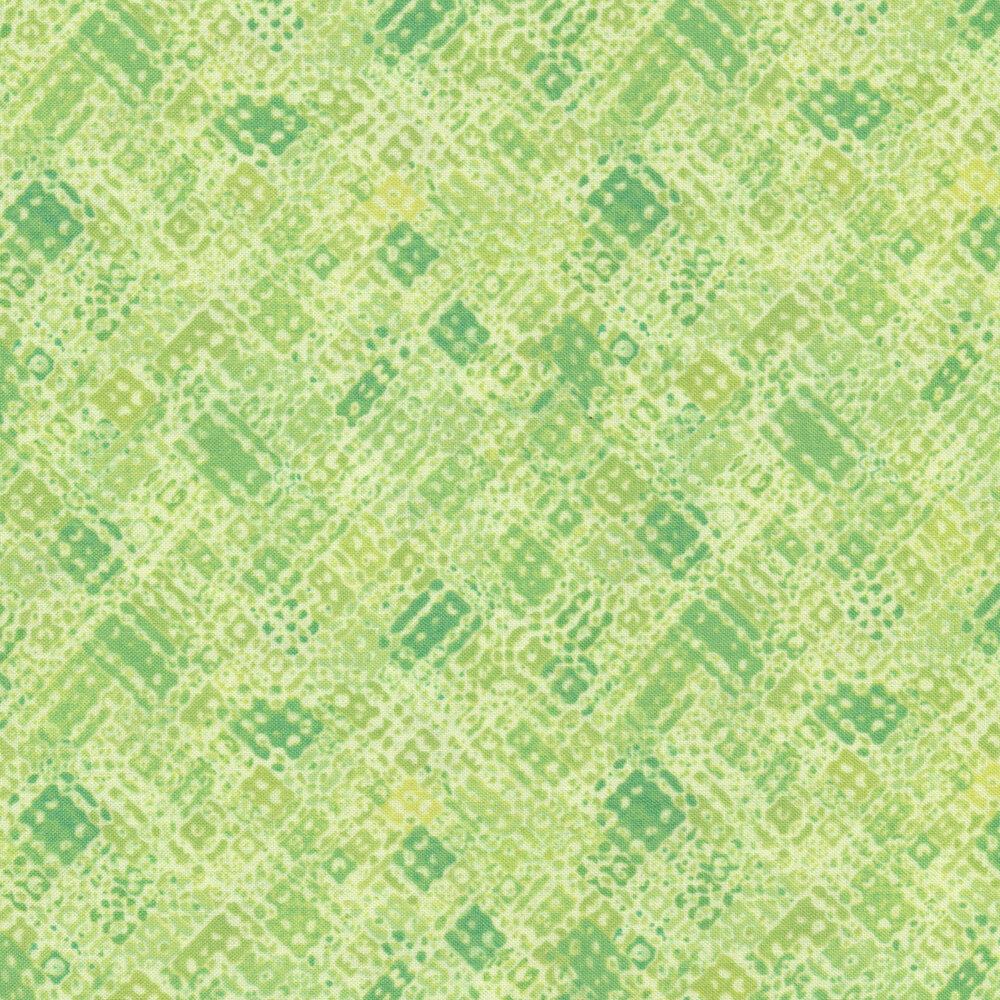 Tonal green textured design | Shabby Fabrics
