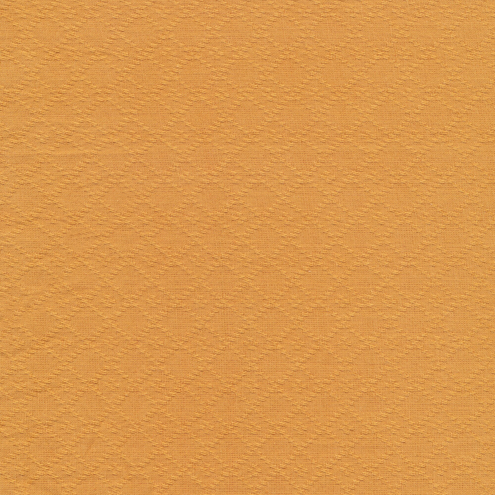 Woven lattice design on orange | Shabby Fabrics