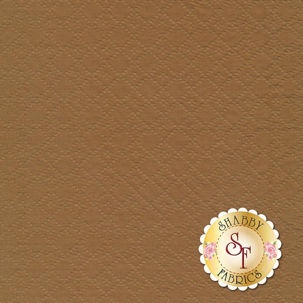 Woven lattice design on brown | Shabby Fabrics