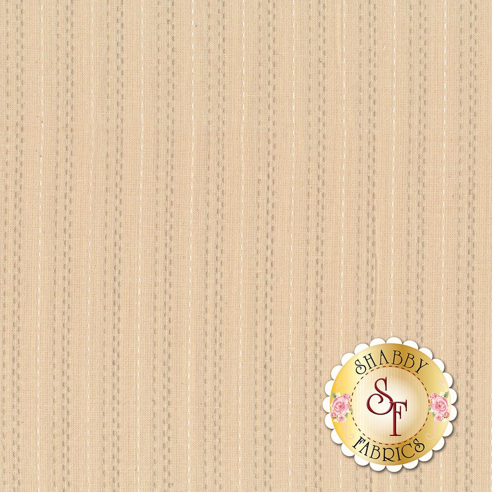 Cream woven stripe design | Shabby Fabrics