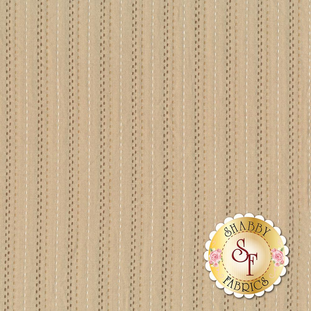 Tan woven stripe design | Shabby Fabrics