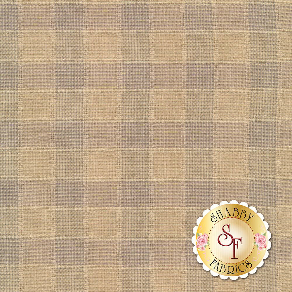 Brown checkered plaid design | Shabby Fabrics