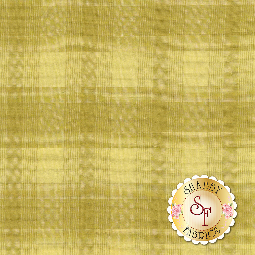 Chartreuse green  plaid design | Shabby Fabrics